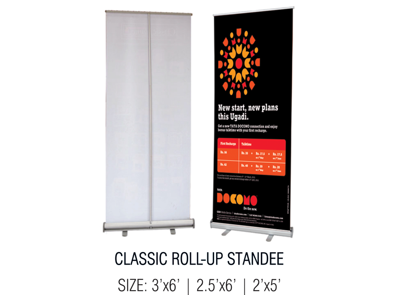 Unic Display Solutions Aluminum Roll Up Standees Pop
